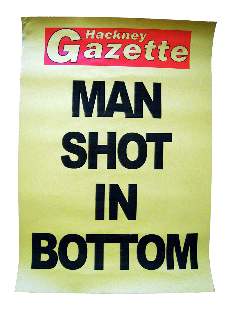 clapton pond, man shot in bottom, hackney gazette headline